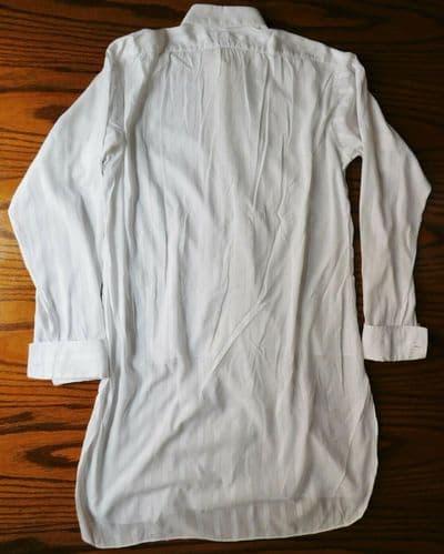 Vintage Jermyn Street shirt Hilditch and Key size 16 fine cotton woven stripe C